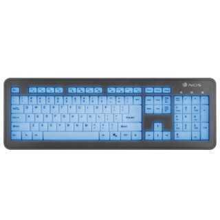 Πληκτρολόγιο NGS BLUELAGOON USB QWERTY LED Μαύρο