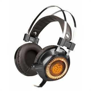 Ακουστικά με Μικρόφωνο για Gaming iggual KAIMATACHI Καφέ Πορτοκαλί