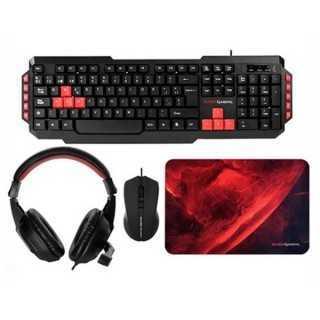 Πακέτο Gaming Mars Gaming MRCP1 (4 Pcs) Μαύρο Κόκκινο