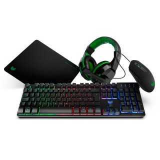 Πακέτο Gaming BG BGX4PCK (4 Pcs) Μαύρο Πράσινο