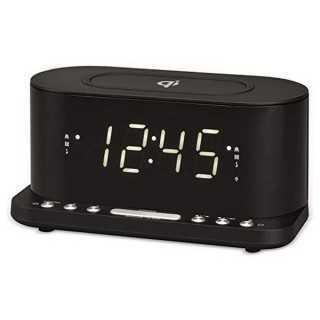 """Ρολόι-Ραδιόφωνο με Aσύρματο Φορτιστή Denver Electronics CRQ-110 12"""" LED USB Μαύρο"""