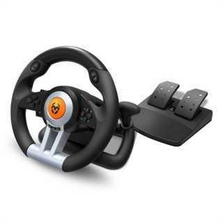 Τιμόνι Αγωνιστικού Krom NXKROMKWHL USB Μαύρο