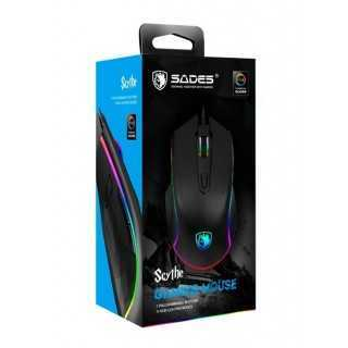 SADES ενσύρματο Gaming Mouse Scythe, 7 buttons, 11 RGB modes