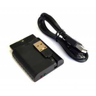 ROAR Gamepad PT-671 για PC/PS2/PS3, Wireless, Vibration, 600mAh, μαύρο