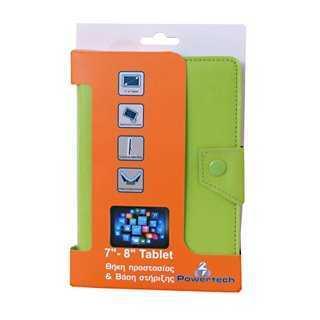 POWERTECH Universal θήκη και βάση για Tablet 7-8 inch, Green