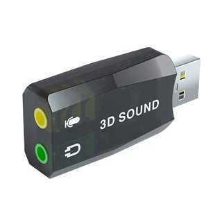 POWERTECH USB Κάρτα ήχου 5.1CH, με έξοδο μικρόφωνου και ακουστικού
