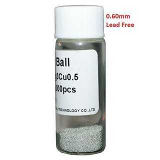 Solder Balls 0.60mm, Lead Free, 25k