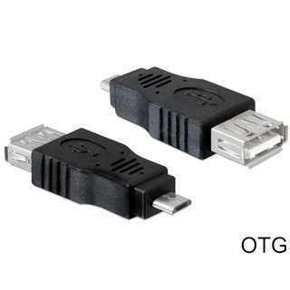 DELOCK Adapter USB Micro-B Male σε USB 2.0 A Female OTG, Black