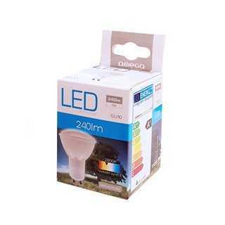 OMEGA LED Λάμπα Spotlight 4W, Warm White 2800K, GU10