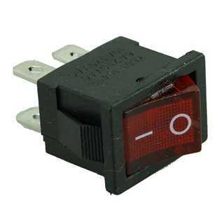 SWITCH ON OFF - 4PIN, Plastic, Black/Red