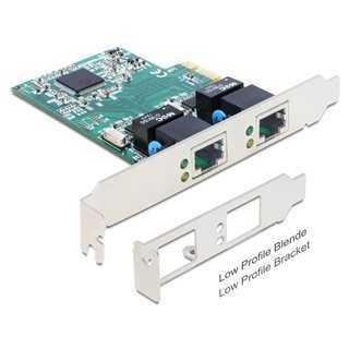DELOCK PCI Express Card σε 2x Gigabit LAN 10/100/1000