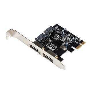 POWERTECH Κάρτα Επέκτασης PCIe σε eSATA + SATA III, ASM1061
