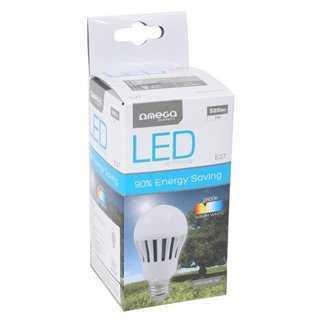 OMEGA LED Λάμπα Bulb 7W, Warm White 2800K, E27
