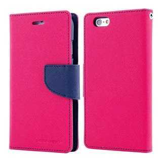 MERCURY Θήκη Fancy Diary για iPhone 7 & 8, Hot Pink/Navy