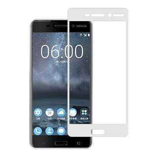 POWERTECH Tempered Glass 3D Full Face για Nokia 2, White