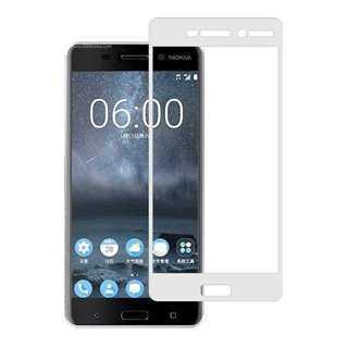 POWERTECH Tempered Glass 3D Full Face για Nokia 2, White