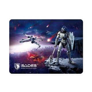 SADES Gaming Mouse Pad Lightning, Low Friction, Rubber base, 350 x 260mm