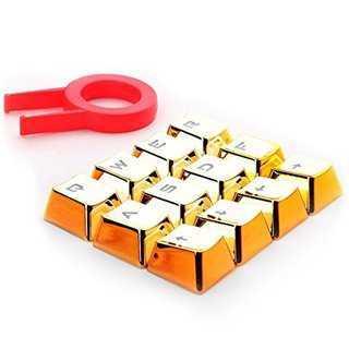 REDRAGON πλήκτρα για Cherry MX μηχανικό πληκτρολόγιο A103, 12τμχ, χρυσά