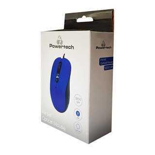 POWERTECH Ενσύρματο ποντίκι, Οπτικό, 3200DPI, USB, 5 πλήκτρα, μπλε