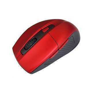 POWERTECH Ασύρματο ποντίκι PT-600, Οπτικό, 1600DPI, 6 πλήκτρα, κόκκινο