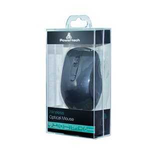 POWERTECH Ασύρματο ποντίκι PT-601, Οπτικό, 1600DPI, 6 πλήκτρα, μαύρο