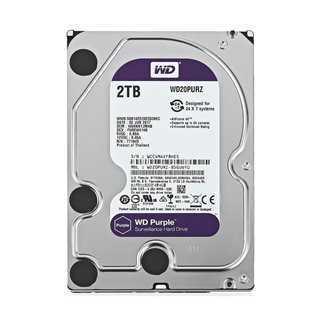 """WD Purple Surveillance Σκληρός Δίσκος 3.5"""" 2TB, 64MB, 5400RPM, SATA III"""