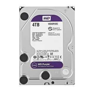"""WD Purple Surveillance Σκληρός Δίσκος 3.5"""" 4TB, 64MB, 5400RPM, SATA III"""