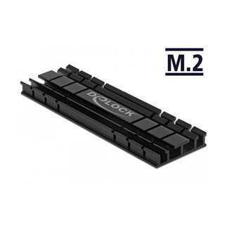DELOCK Ψύκτρα 70 mm flat για M.2 συσκευές, μαύρη