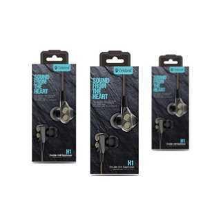 CELEBRAT earphones με μικρόφωνο H1, μαύρα