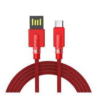 GOLF Καλώδιο Shuttle USB 2.0 σε Micro, Fast Charging, Sync, 1m, Red