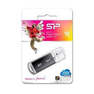 SILICON POWER USB Flash Drive Ultima U02, 16GB, USB 2.0, μαύρο