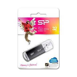 SILICON POWER USB Flash Drive Ultima U02, 32GB, USB 2.0, μαύρο