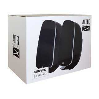 ALTEC LANSING ηχεία Curved, 2.0ch, 20W RMS, 3.5mm, μαύρα