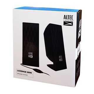 ALTEC LANSING ηχεία Lozenge Mini, 2.0ch, 2X 2.4W RMS, USB, μαύρα
