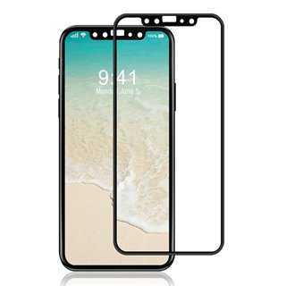 POWERTECH Tempered Glass 3D για iPhone XS, titanium, μαύρο
