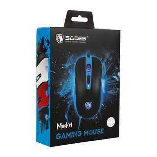 SADES Ενσύρματο Gaming ποντίκι Musket S15, 7 πλήκτρα, 4000CPI, μαύρο