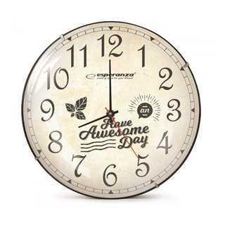 ESPERANZA ρολόι τοίχου Lausanne EHC018L, 30cm, λευκό