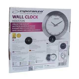 ESPERANZA ρολόι τοίχου Houston EHC011W, 25cm, λευκό