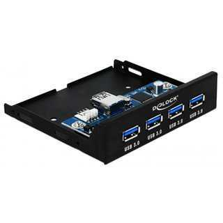 "DELOCK 3.5"" hub με 4x USB 3.0 θύρες, μαύρo"