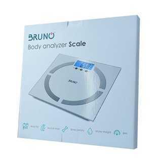 BRUNO Ζυγαριά μπάνιου με λιπομέτρηση ΒRN-0008, με οθόνη LCD, λευκή