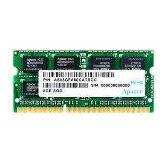 APACER Μνήμη DDR3 SODimm DS.08G2J.K9M, 8GB, 1333MHz, PC3-10600, CL9