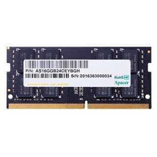 APACER Μνήμη DDR4 SODimm ES.04G2T.LFH, 4GB, 2400MHz, PC4-19200, CL17