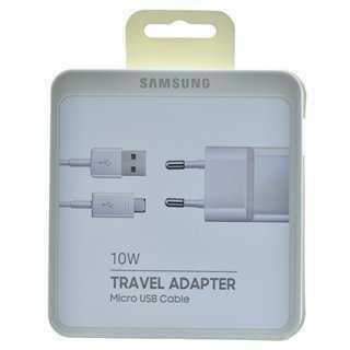 SAMSUNG Φορτιστής EP-TA12EWE USB 2.0 σε Micro USB, 2A 10W, retail, λευκό