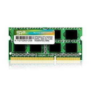 SILICON POWER Μνήμη 8GB DDR3L SODimm, PC3L 12800, 1600MHz, CL11, 1.35v