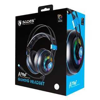 SADES Gaming Headset Armor SA-918-BL, USB, Realtek Audio, RGB LED, BK