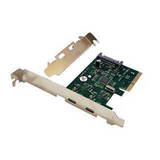 POWERTECH Κάρτα Επέκτασης PCI-e σε 2x USB 3.1 Type-C, Chipset ASM1142
