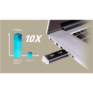SILICON POWER USB Flash B02, 128GB, USB 3.1 Gen1, μαύρο