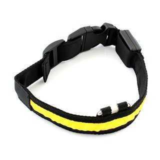 Περιλαίμιο σκύλου AG232B με φωτισμό LED, 34-44cm, μαύρο/κίτρινο