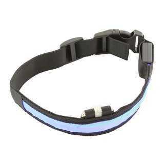 Περιλαίμιο σκύλου AG232A με φωτισμό LED, 34-44cm, μαύρο/μπλε