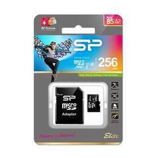 SILICON POWER Κάρτα Μνήμης Elite microSDXC UHS-1, 256GB, Class 10